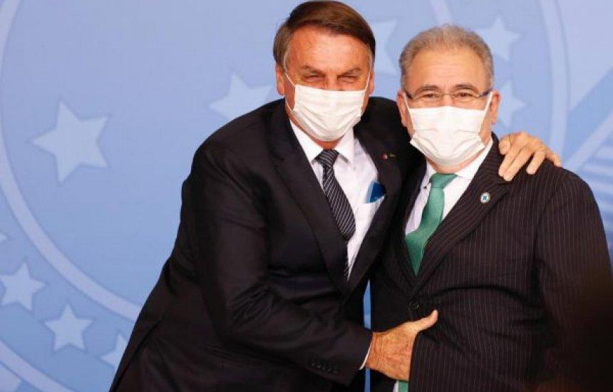 [Bolsonaro diz que vai discutir uso obrigatório de máscara com Queiroga]