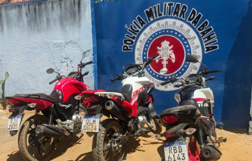 [Polícia recupera dois carros e nove motocicletas em operação no interior da Bahia]