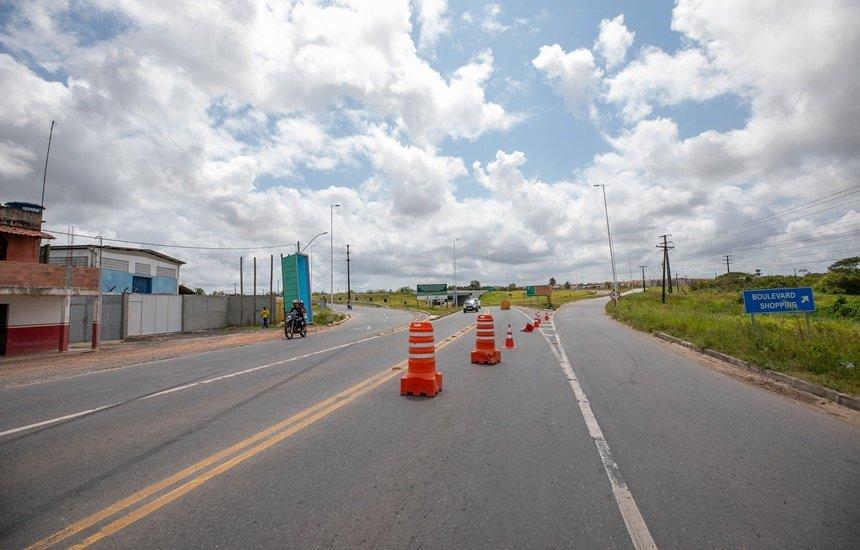 [Trânsito no Viaduto da Cascalheira será modificado sentido Avenida Industrial Urbana]