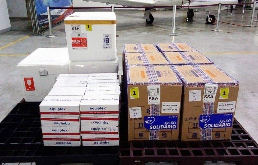 [Nova carga com doses de vacinas contra Covid-19 chega à Bahia]