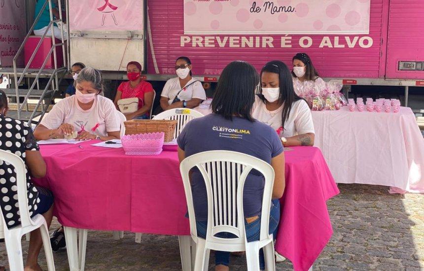 [Outubro Rosa: moradoras de Dias d'Ávila são contempladas com exames de mamografia digital]