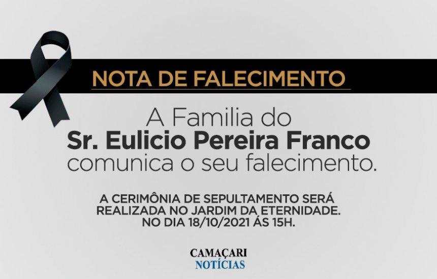 [Nota de Pesar: familiares e amigos se despedem do Sr. Eulicio Pereira]