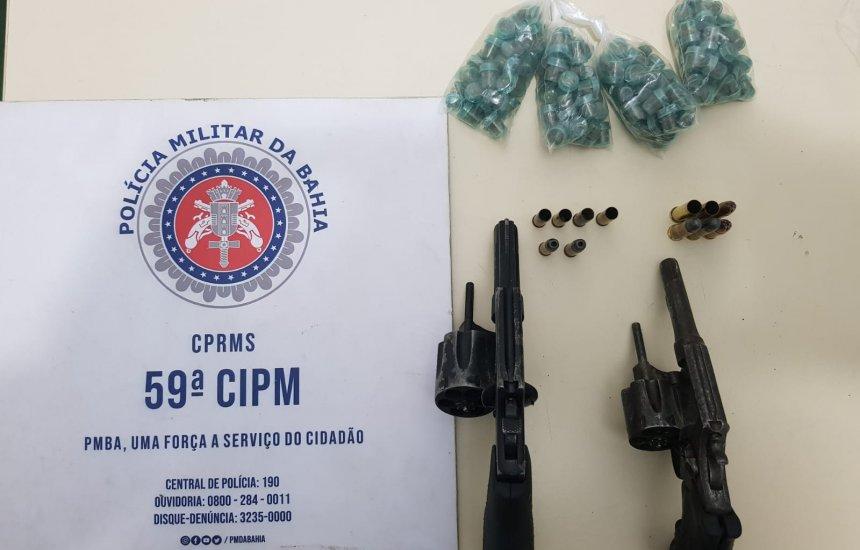 [Camaçari: armas e maconha são apreendidas com suspeitos em Itacimirim]